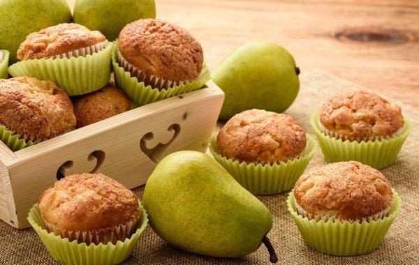 Muffins délicieux poires pépites de chocolat