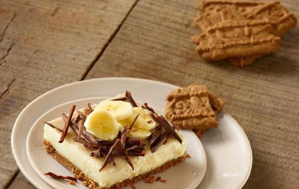 Cheesecake banane spéculoos au lait concentré sucré