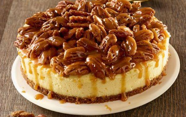 Cheesecake pecan caramel au lait concentré sucré