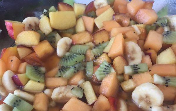 Salade de Fruits caramel fleur d'oranger