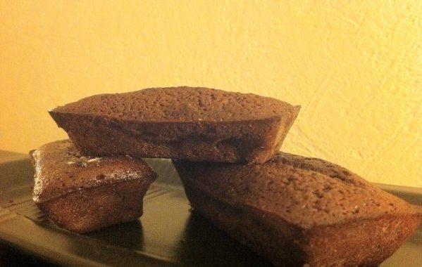 Fondant chocolat, poires et pâte d'amande de Jeanne