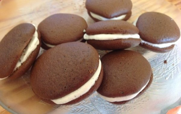 Whoopies chocolat – vanille