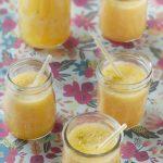 Soupe d'ananas et pêches