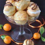 Profiteroles à la mousse de mandarine