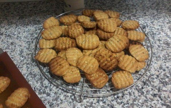Cookies croquants au noix