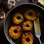 Ananas poêlé, sauce carambar