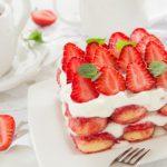 Tiramisu aux fraises et au rhum