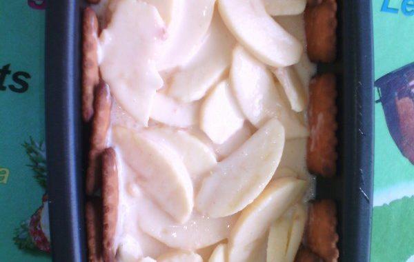 Diplomate aux pommes et petits beurre