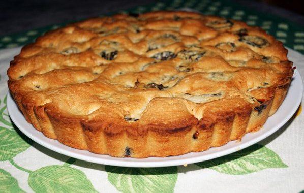 Gâteau sablé aux pruneaux