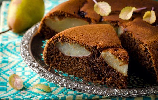 Tarte poires chocolat et noisettes