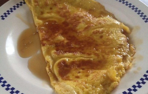 Omelette au sucre