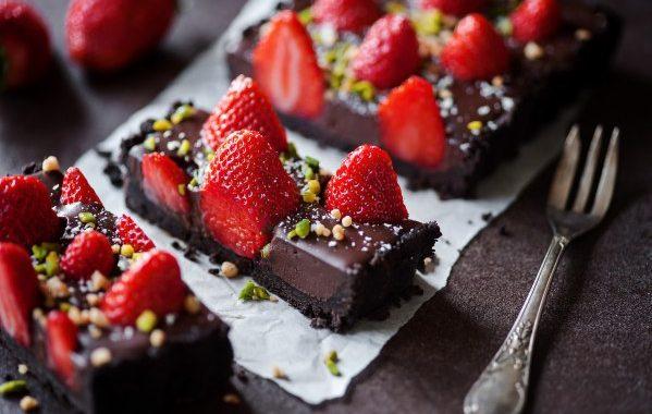 Tarte laitière fraise-chocolat