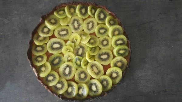 Tarte amandine aux kiwis
