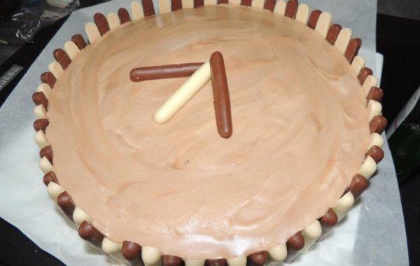 Gâteau au chocolat et mousse au praliné