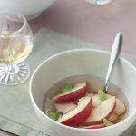 Salade de pêches blanches