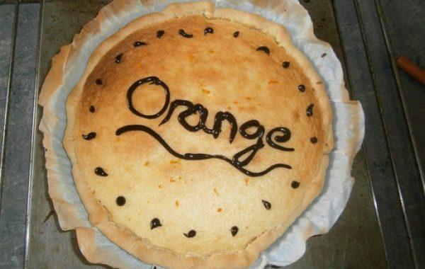 Tarte à l'orange rapide