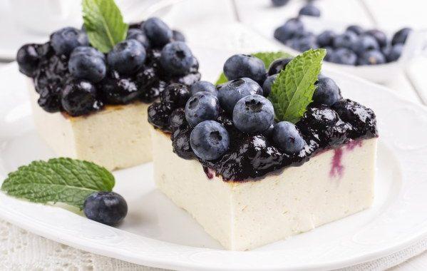Cheesecake léger aux myrtilles (façon chilienne)