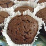 Muffins aux chocolat et édulcorant