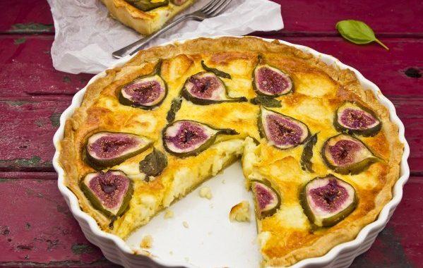 Tarte au fromage blanc et figues