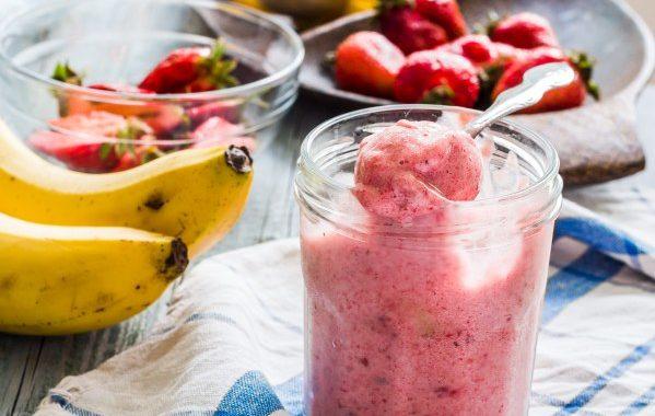 Sorbet fraise-banane