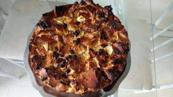 Pudding aux pommes et aux cranberries