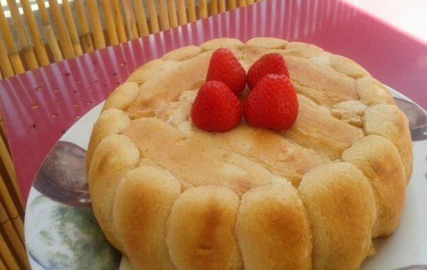Gâteau très frais aux boudoirs et à la confiture