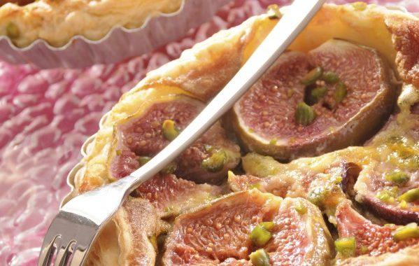 Tarte aux figues pistachées