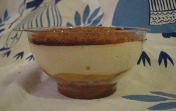 Verrines bretonnes : mousse poires caramel beurre salé