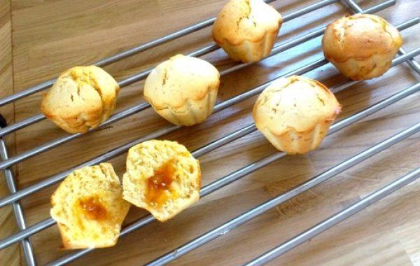 Muffins à la confiture d'abricot
