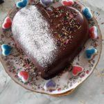 Coeur en chocolat pour la saint valentin