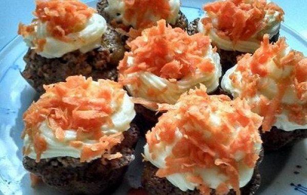 Cupcakes aux carottes et au pralin