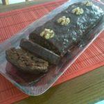 Gâteau bananes, chocolat et noix