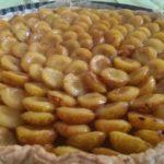 Tarte aux mirabelles et à la confiture d'abricots
