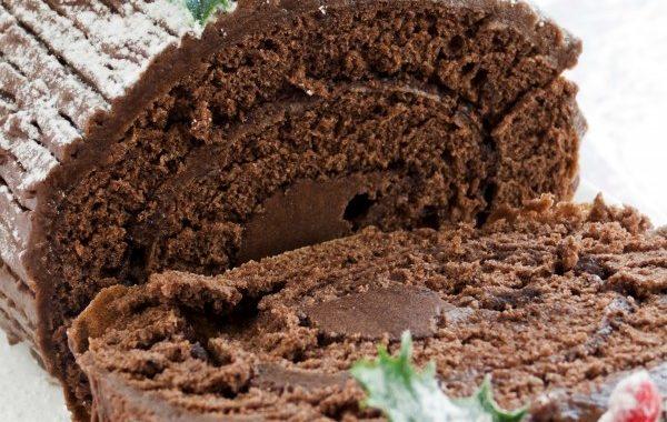 Bûche chocolat-marrons
