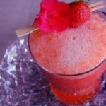 Soupe pétillante de melon et fraises
