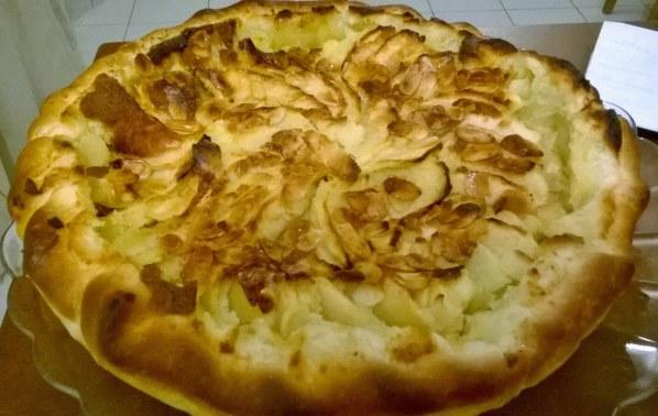 Tarte frangipane aux pommes et au miel