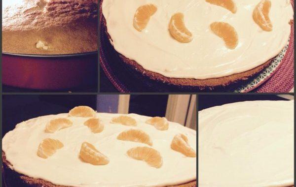 Gâteau à la clémentine et son glaçage façon chantilly