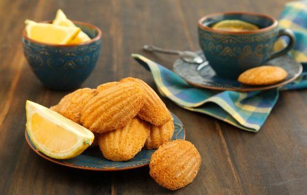 Madeleines au citron végétaliennes