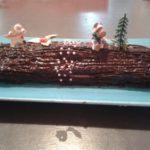 Bûche de Noël au carambars et chocolat
