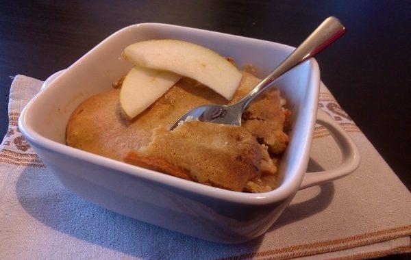 Gratin automnal aux poires, pommes, noix, miel et cannelle