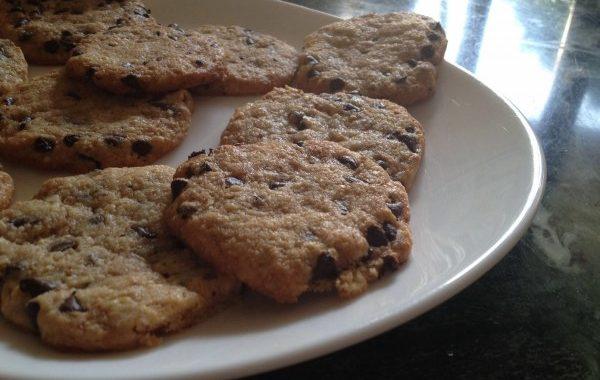 Cookies croquant aux pépites de chocolats et au pralin
