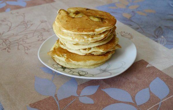 Pancakes banane et rhum facile