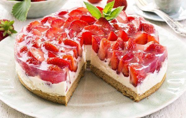 Gâteau fraises – chocolat blanc