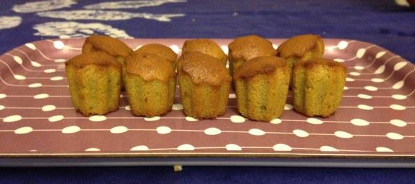 Mini cakes au thé Matcha