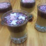 Verrine compote de pomme et mousse au chocolat