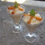 Mousse melon-pêche