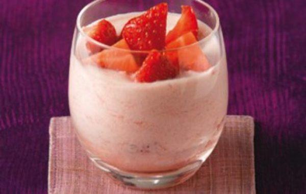 Mousse à la confiture de fraise