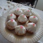 Cupcake au glaçage royal étoilé