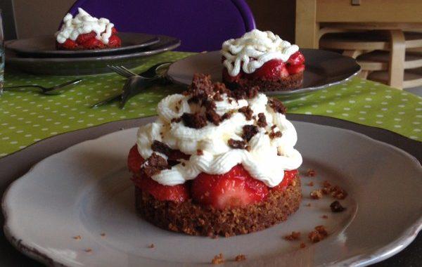 Tartelette aux fraises revisitée