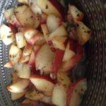 Fraîcheur de nectarines à la menthe